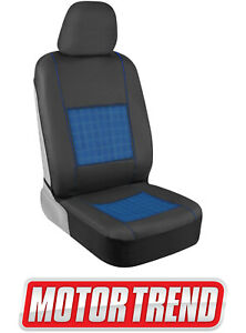 Motor Trend Black Leather Seat Cover Cooling Gel Car Truck Van Suv Auto