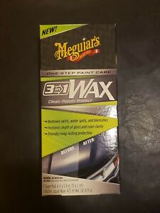 Meguiars G191016 3 in 1 Wax Multiple Steps One Easy To Use Wax 16 Oz