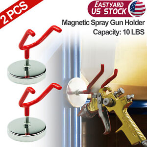 Magnetic Paint Spray Gun Holder Stand Gravity Feed Hvlp Booth Cup 10 Lbs