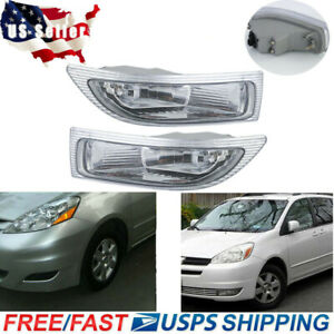 2x Front Fog Driving Lamp Light Left Right W bulbs For Toyota Sienna 2004 2005