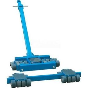 New Steerable Machinery Moving Skate Roller Kits 40 Ton Capacity