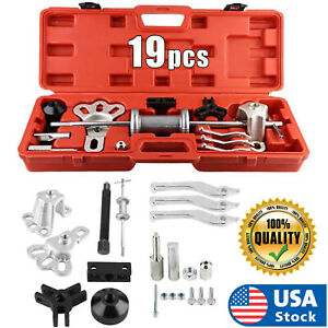 Usa Slide Hammer Dent Puller Tool Kit Wrench Adapter Axle Bearing Hub Auto Set