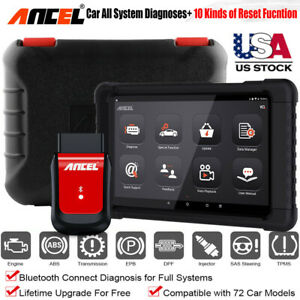 2021 Ancel X6 Obdii Scanner Abs Dpf Oil Injector Coding Auto Diagnostic Tablet