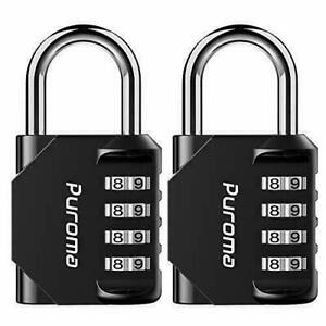 Puroma 2 Pack Combination Lock 4 Digit For School Gym Locker Sports Locker
