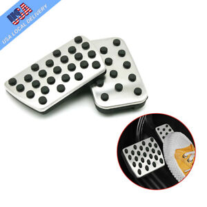2pcs For Honda Civic 10th No Drill Steel Brake Accelerate Pedals Pad Covers Cap