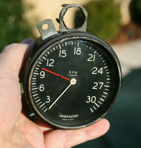 Stewart Warner Vintage 3k 3 100 Rpm Tachometer With Tell Tale