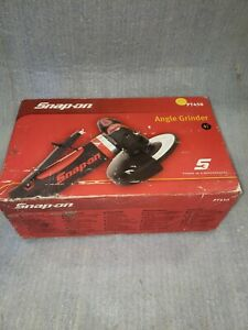Snap On Pneumatic 4 1 2 Angle Die Grinder Pt450 With Wrenches Almost New