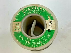 Standard Easy Flow Solid Wire Solder 50 50 15 2 Oz total Weight