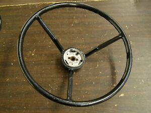 Nos Oem Ford 1959 Fairlane Steering Wheel W Horn Button Emblem Ornament