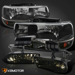 Black Combo Suburban Silverado Tahoe Headlights bumper Lamp fog Light