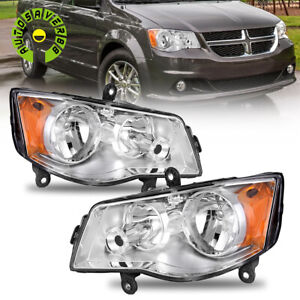 Clear Headlights For 2011 2019 Dodge Grand Caravan 08 16 Chrysler Town Country