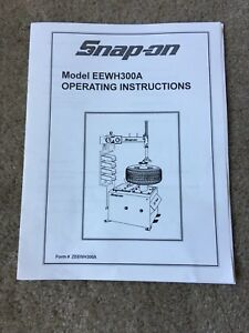 Snapon Tools Tire Machine Instructional Manual