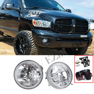3 Round White Halo Universal Fog Lights Chrome Housing Clear Led Driving Lamps