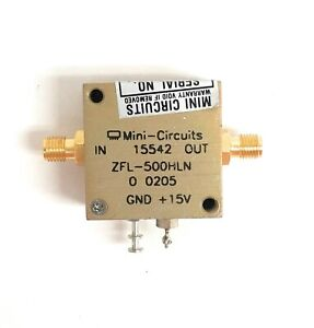 Mini circuits Zfl 500hln Low Noise Amplifier 10 To 500 Mhz 50 Ohms Sma