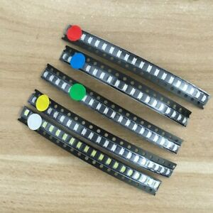 500 Pcs Smd Led Kit 1206 0805 0603 Red Green Blue White Yellow 5 X 100pcs Pack