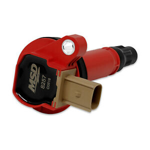 Msd Ignition Coil 1pk Fits Ford Eco Boost 3 5l V6 11 16 Red 8257
