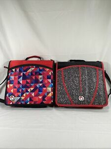 Two Case it The Mighty Zip Tab 3 ring Binder 3 Capacity For School