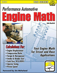 Performance Automotive Engine Math Book Professional Engine Builders Source New