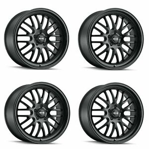 Set 4 18 Ridler 607 Matte Black 18x8 5x4 75 5x120 65 Wheels 0mm Rims