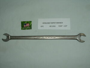 Vintage Otc 0 1416 Tappet Open End Wrench valve Adjusting Tool thin 7 16 1 2