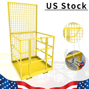 Forklift Cage Safety Work Platform Construction Lift Basket Aerial Fence 45x43