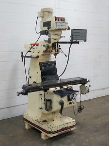 Jtm 4vs Jet 3 hp Vertical Turret Milling Machine With Dro Used Am20438
