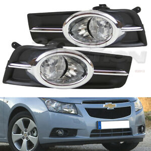Oe Style Fog Lights Pair Clear Lens Lamps Switch Harness For 09 14 Chevy Cruze