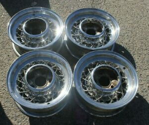 1953 1954 1955 1956 1957 Cadillac Buick Kelsey Hayes 15 X 6 Wire Wheels Of