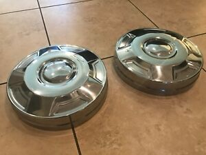 One Ton 3 4 Ton Ford hubcap E250 E350 Dog Dish Chrome Front