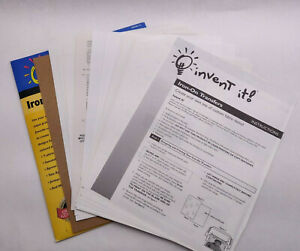 Mixed Lot Of Iron on Light Fabric Transfer Paper 20 Sheets 8 5 X 11