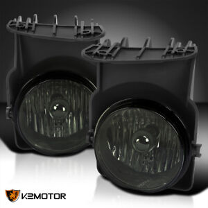 For 2003 2006 Gmc Sierra 1500 2500 3500 Hd Smoke Driving Fog Lights Lamp W bulbs