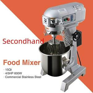 Secondhand Commercial Dough Food Mixer 15qt 3 Speed 600w Multifunction Blender