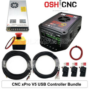 Cnc Xpro V5 Usb 4 Axis Motion Card Controller Bundle For Wood Cnc Router Mill