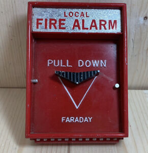 Rare Faraday 10123 1 Fire Alarm Pull Station Conventional