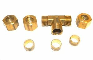 Big A Service Line 3 16480 Tee Connector Fitting 1 2