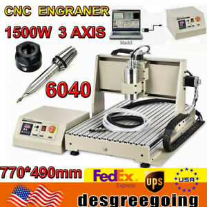 1 5kw 3 Axis Usb 6040 Cnc Router Engraver Pcb Cutting Drilling Milling Machine