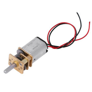 Micro Mini N20 Gear Motor Dc3v 6v Slow Speed Full Metal Gearbox Reducer Toy Diy