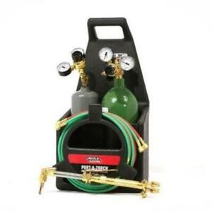 Welding Cutting Torch Port a torch Kit With Oxygen And Acetylene Tanks And 3 16