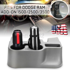 Center Console Organizer Cup Holder For Dodge Ram Add on 1500 2500 3500 Us Stock