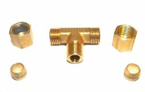 Big A Service Line 3 17242 Hydraulic Tee Connector Fitting 1 4 X 1 8