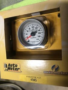 Autometer Pyrometer Gauge Kit 4945 2 1 16 Ultra lite Ii Electric 0 2000 f New