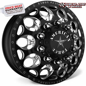American Force H13 Carnage Black 22 5x8 25 Dually Wheel 10 Lug Rim Set 6