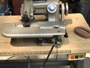 Consew Industrial Blind Stitch Sewing Machine Model 817 With Table Motor Works