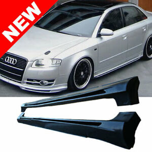 Audi A4 B7 Ab Type Euro Side Skirts For S4 Rs4 Body Kit B6 Sideskirts