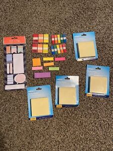 Post It Tabs And Caliber Sticky Notes Lot