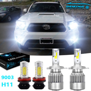 4pc Faros Led Bombilla Hi lo Luces Antiniebla Para For 2012 2015 Toyota Tacoma
