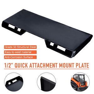 1 2 Quick Attach Mount Plate Attachment For Tractors Skidsteers Loaders