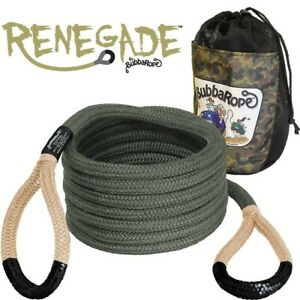 Bubba Rope 3 4 Renegade 20 Foot Power Stretch Recovery Rope 19000 Pound Limit