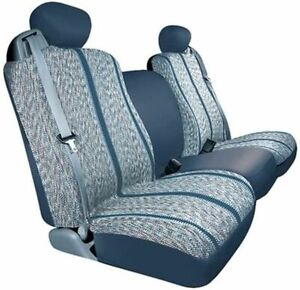 Saddleman Blue Saddle Blanket Fabric Seat Covers 2003 2006 Chevy Gmc Trucks