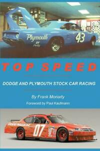 Top Speed Dodge And Plymouth Stock Car Racing Book mopar charger superbird new